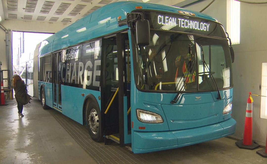 Are fares electric? TransLink unveils battery-powered bus